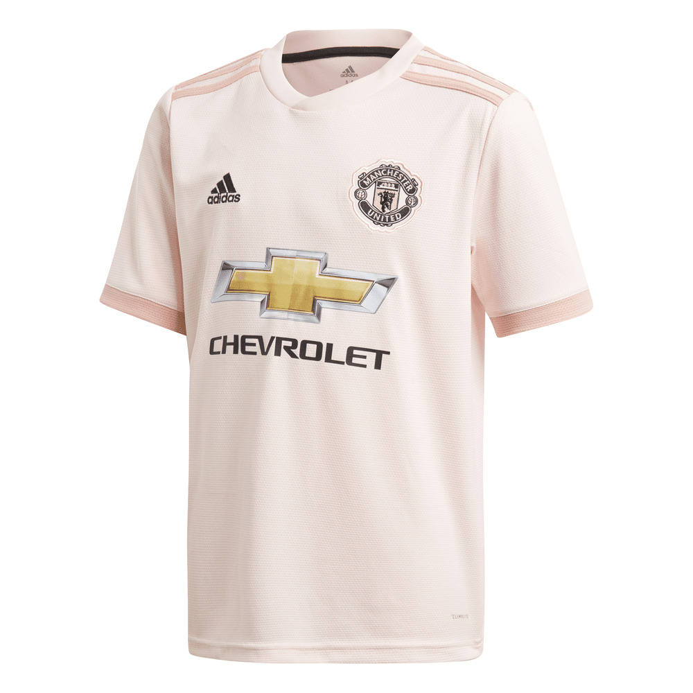 8223eff4a Details about Adidas Manchester United Away Junior Short Sleeve Jersey 2018  2019