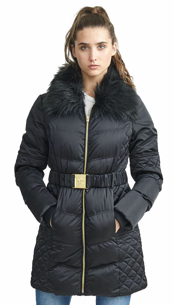 7cb0821fae1 Details about Womens Brave Soul Hooded Padded Belted Puffer Longline Winter  Ladies Jacket Coat