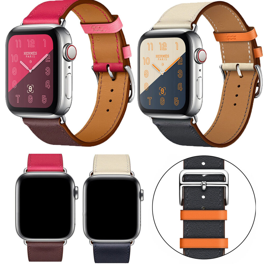 Details about Genuine Leather Wristband Bracelet Strap for Apple Watch  iWatch Series 4 40 44mm 2681a3c6091