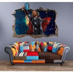 Thor Marvel Wall Decal 3D Art Stickers Vinyl Room Home Bedroom