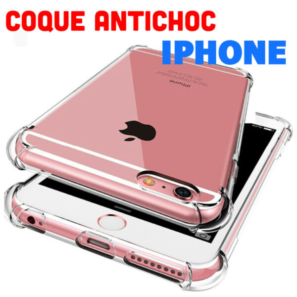 COQUE PROTECTION ANTICHOC IPHONE 7 IPHONE 8 TRANSPARENTE EN GEL