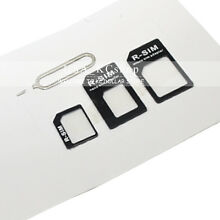 New Nano to Micro Standard SIM Converter Adapter Card for Samsung iPhone X 5 5S