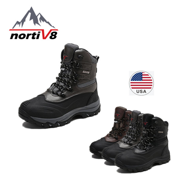 arctiv8 Men 160443-M Insulated Waterproof Construction Sole Winter Snow Ski Boot