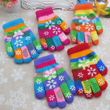 12 -60pair Boy Girl Children Magic Knit Warm Winter Gloves Snowflake Thermal Lot