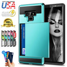 Fits Galaxy Note 9/8 Case Sliding Cover Wallet Case Credit Card Holder ID Slot
