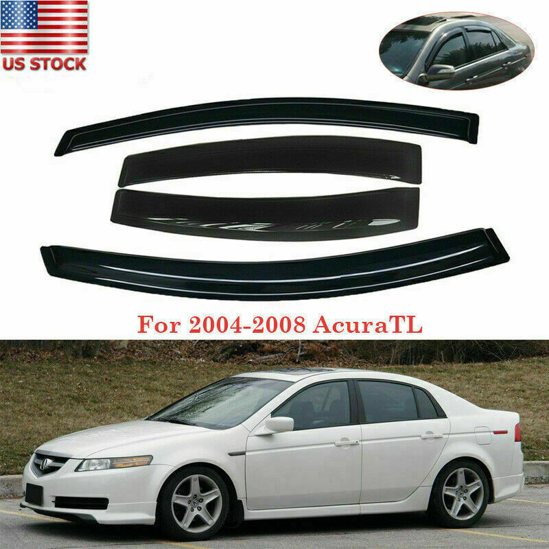 Smoke Tint Vent Window Visor Guard Shade Deflector Fit For