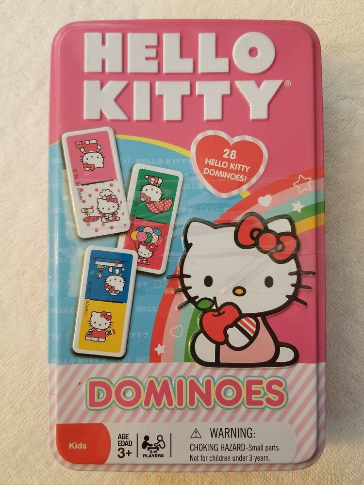 b72b138d13d6 Sanrio Hello Kitty 28 Pc Dominoes Game in Storage Tin ~ NEW!