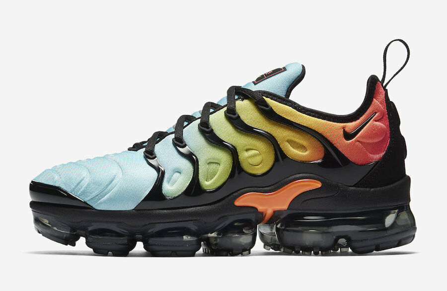 online store 88db0 b59b6 Details about Women's Nike Air Vapormax Plus TROPICAL SUNSET AQUA BLUE  ORANGE AO4550-002 sz 5