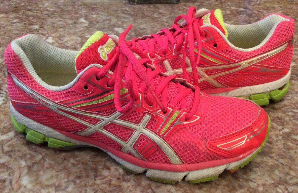 ae9cb0136912 Details about ASICS Gel GT-1000 Women s Pink White Running Cross-Training  Shoes Sz 9 T2L6N EUC