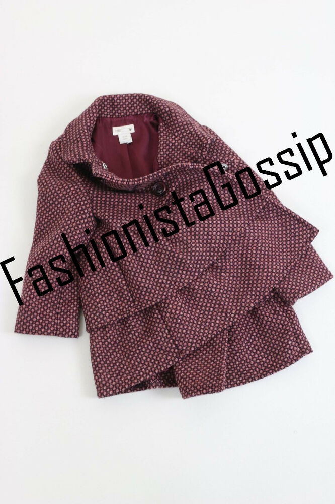 5af26ebac Details about Monsoon Baby Girls Purple Tweed Penny Frill Winter Jacket Coat  3 Mths- 3 Yrs