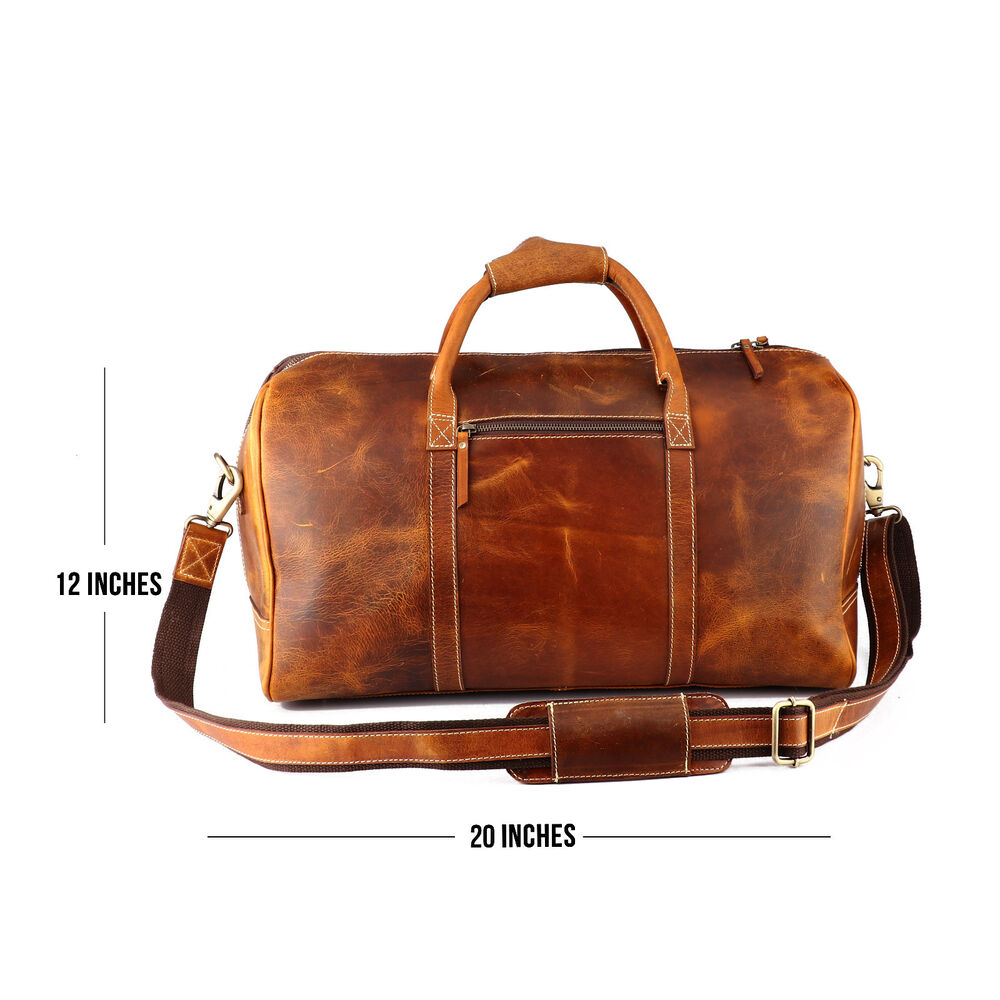 ... Leather Luggage Duffel Gym Overnight Weekend Bag  8ada9d148d0 Details  about 20 ... e1a4a79aa062a