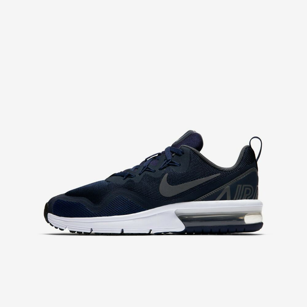 low priced 25e6b 7104c Details about Nike Air Max Fury Boys Trainer Shoe Size 4 - 5.5 Obsidian Dark  Grey RRP £55 -