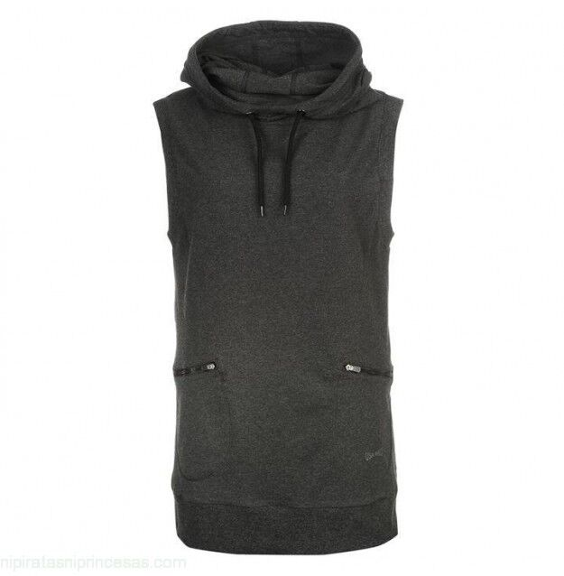 Details about USA Pro Womens Sleeveless Pullover Hoodie Hoody Grey UK size  16 71afd07a3