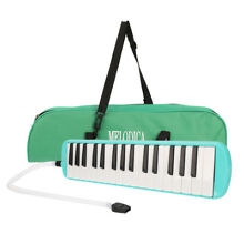 32 Piano Keys Melodica Musical Instrument for Beginners w/ Carrying Bag Green