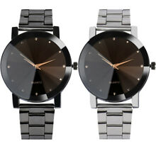 UK Mens Watches Stainless Steel Date Analog Quartz Army Silver Black Wrist Watch