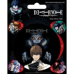 Death Note Official Pack Of 5 Vinyl Stickers Light Yagami Kira Ryuk Anime Cartoo