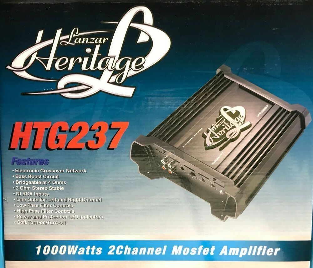 Lanzar Htg237 Heritage Bridgeable Amplifier 1000w 2 Channel Wiring Kit 1600w 4 Digital Pro Don T Ohm Stable 68888900744 Ebay