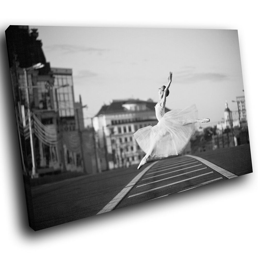 Details about black white ballerina ballet modern canvas wall art large picture prints
