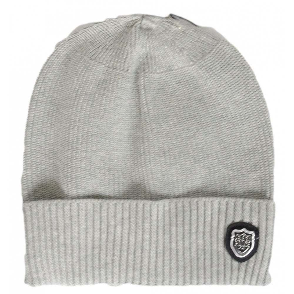 2c9dcfcdfe5 Details about 883 Police Sotto Ribbed Cotton Grey Beanie Hat