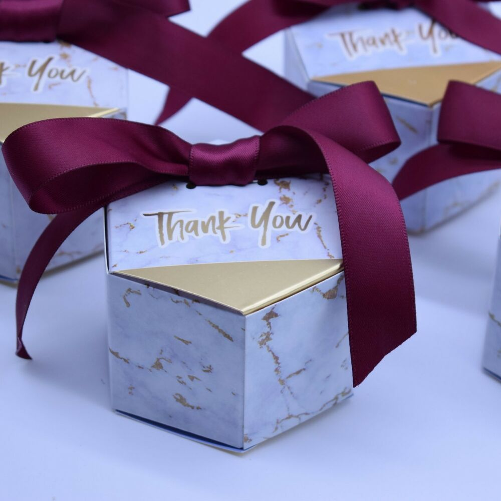 Details about Marble Style Candy Box Baby Shower Gift Paper Box Party Favors  Bags Packing Box