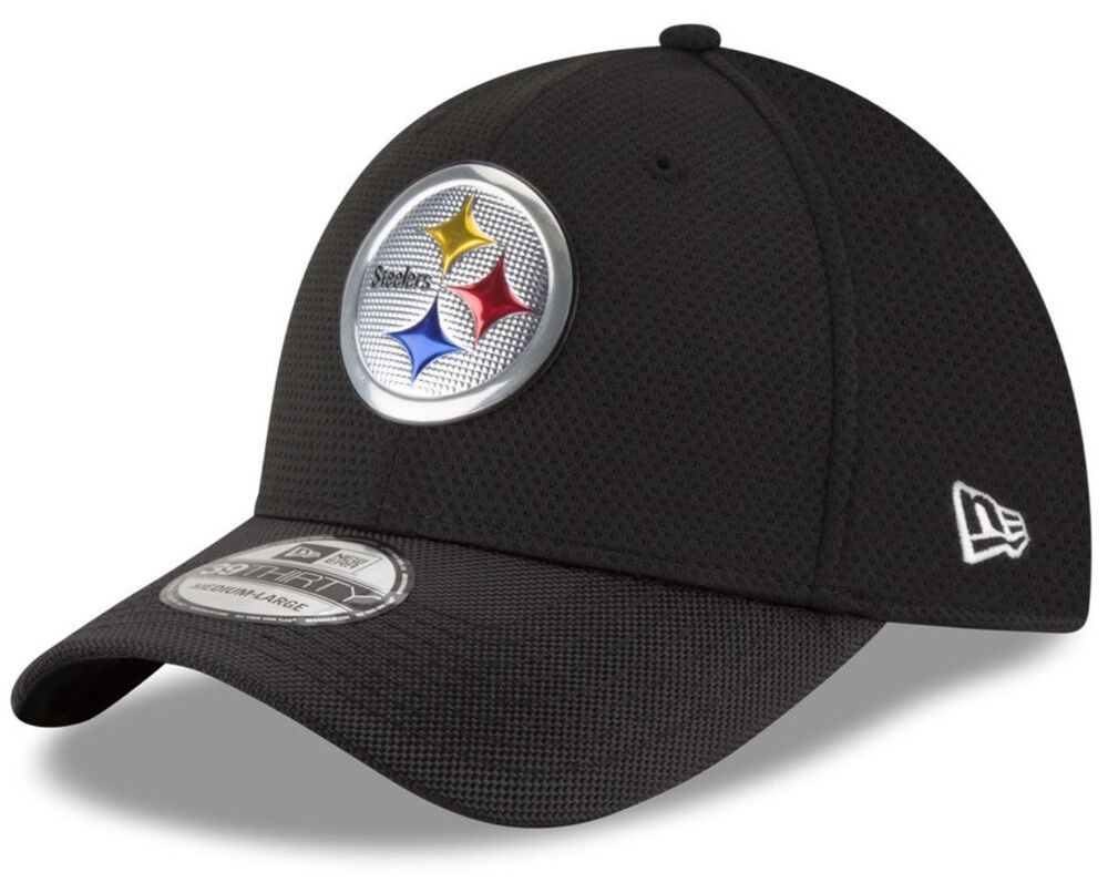 timeless design 1096e a4b7c Details about Pittsburgh Steelers New Era 39Thirty NFL Color Rush M L  Flexfit Fitted Cap Hat