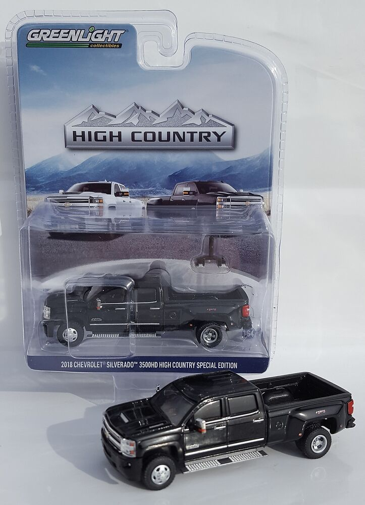 1:64 GreenLight *BLACK* 2018 Chevrolet Silverado 3500 HD ...