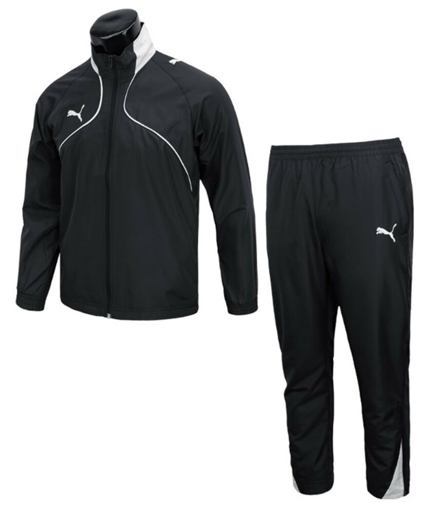 1255fe59928ca Puma Men Foundation BTS Training Suit Set Black Jacket Pants GYM Jersey  65225203