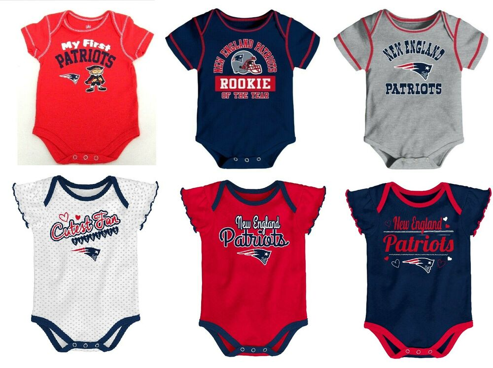 promo code 36bb9 a7692 NFL New England Patriots Baby Bodysuit One Piece Creeper Choose Style And  Size | eBay