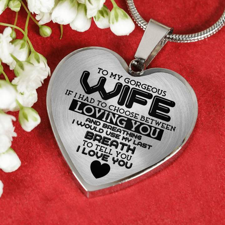 Luxury Wedding Anniversary Gifts: To My Gorgeous Wife Love Husband Luxury Heart Shape