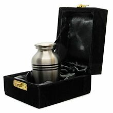 Grace and Mercy Pewter Small Mini Keepsake Urn for Human Ashes - Qnty 1 - A Beau