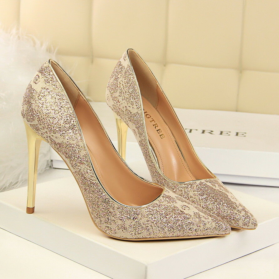 d832241710d Details about Sexy Women Party Shoes Stiletto Pointed-toe High Heels Suede  Prom Wedding Shoes