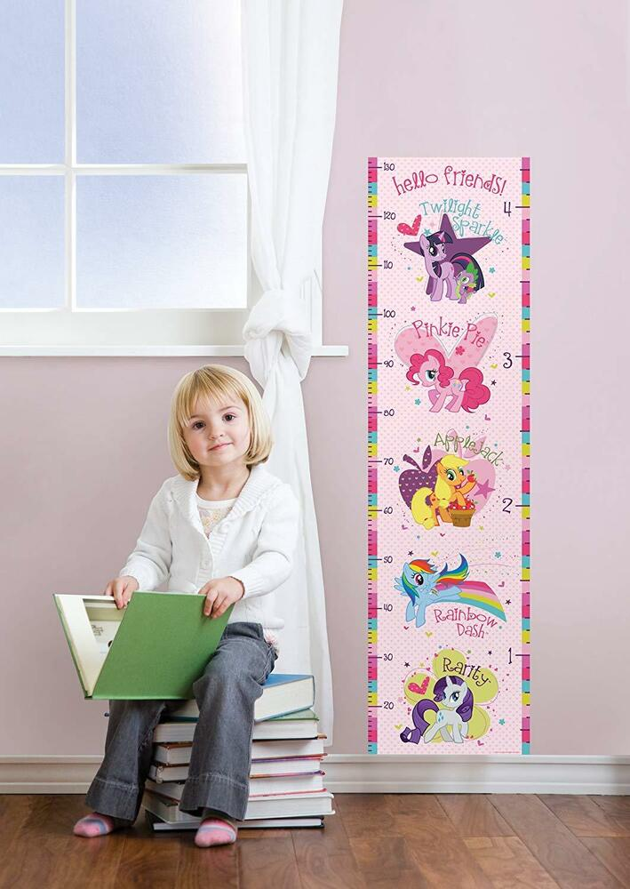 My Little Pony 48 Growth Chart Wall Decals Pink Nursery Room Decor