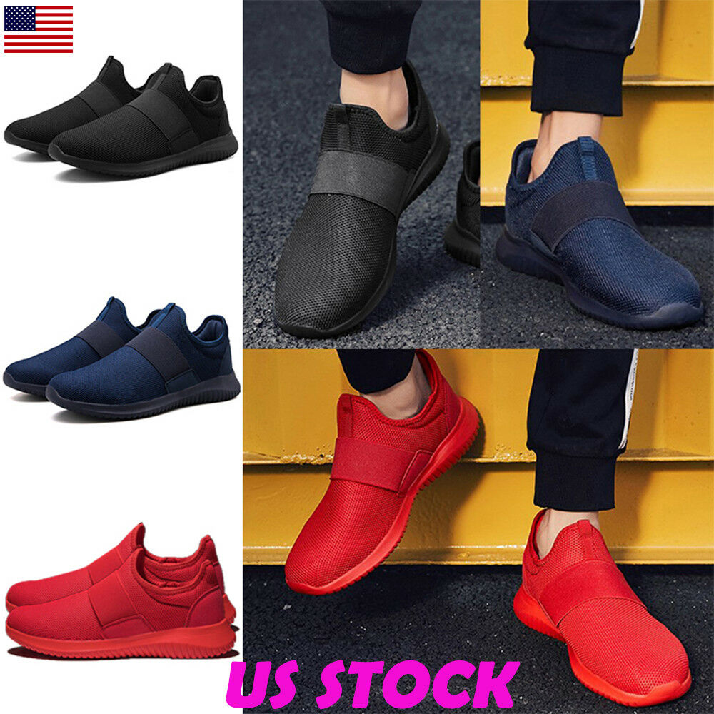 6994ca7fb75ddd Details about Men's Casual Sport Shoes Mesh Slip On Sneaker for Walking Gym  Running Tennis USA
