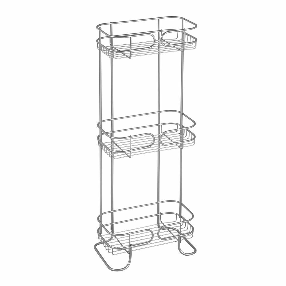 3 Tier Bath Shelf Part - 17: InterDesign 27900 Neo 3-Tier Bath Shelf - Silver