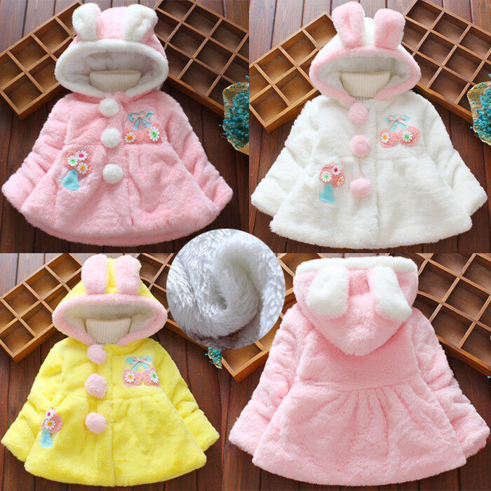 2fa987ede3c3 Children Baby Infant Girl Winter Hooded Coat Cloak Thick Warm ...