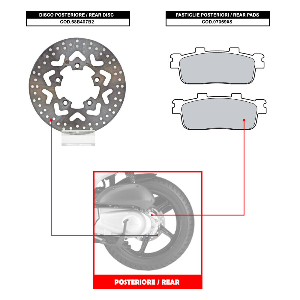 Back Disc Brembo Past Kymco People S 200 From 2007 68b407b2 Ebay Diagram