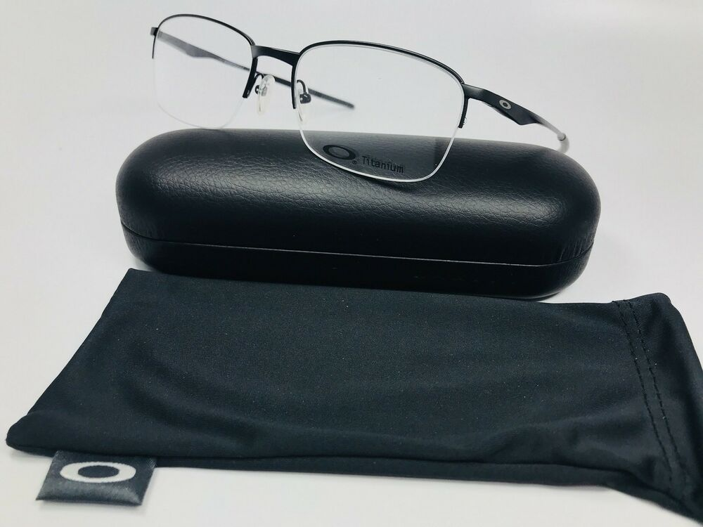 a725ac41c5e Details about 🔸New Oakley OX5101-0155 Black TITANIUM WINGFOLD Eyeglasses  55mm with Case