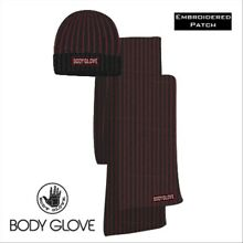 Body Glove MN Contrast Rib Hat & Scarf Set - Onyx/Racing Red
