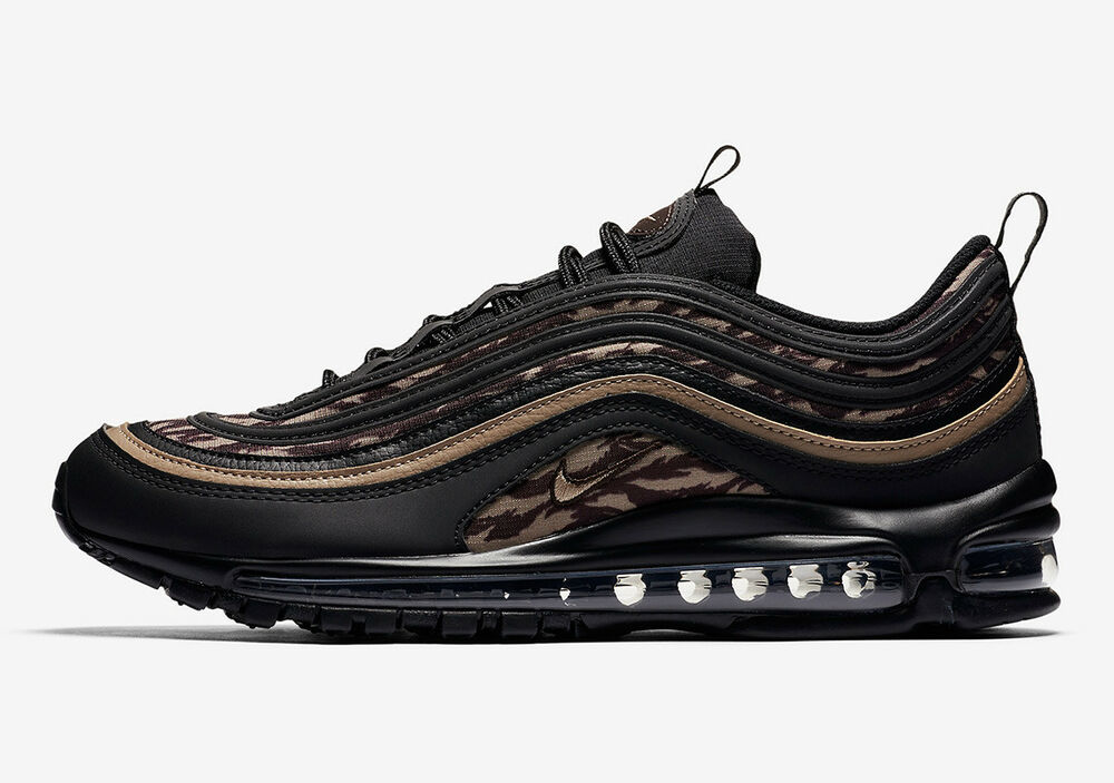 a18d96a3e8 Details about Nike Air Max 98 AOP TIGER CAMO BLACK BROWN 90 DUCK AQ4132-001  sz 11 Men Running