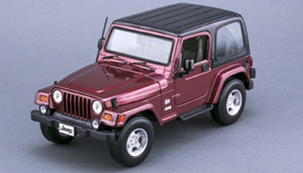 Details About Maisto 1 18 Jeep Wrangler Sahara Red Cast Model Car Vehicle New In Box