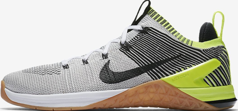 3663a63c83c Details about Nike Metcon DSX Flyknit 2 Mens Cross Training Black Gray Volt  924423-107