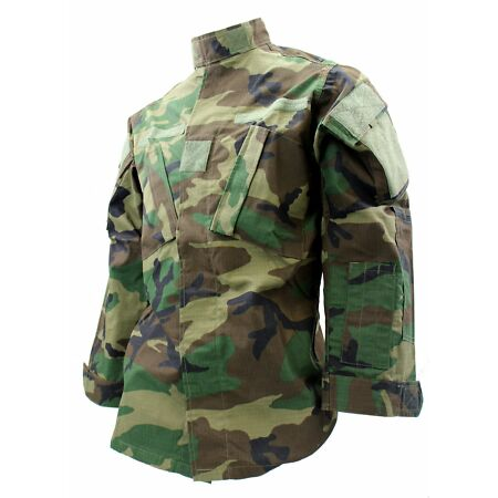 img-Woodland Camo BDU Army Jacket - Medium