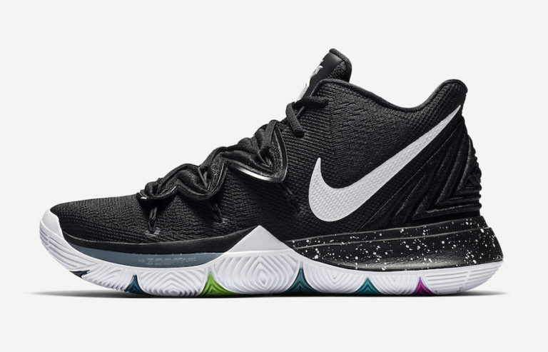 bdf87f89328d Details about Nike Kyrie Irving 5 V Black Magic Multi-Color White  AO2918-901 Men   Kids GS