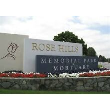 2 side-by-side Rose Hills Cemetery Plots - (selling as pair)