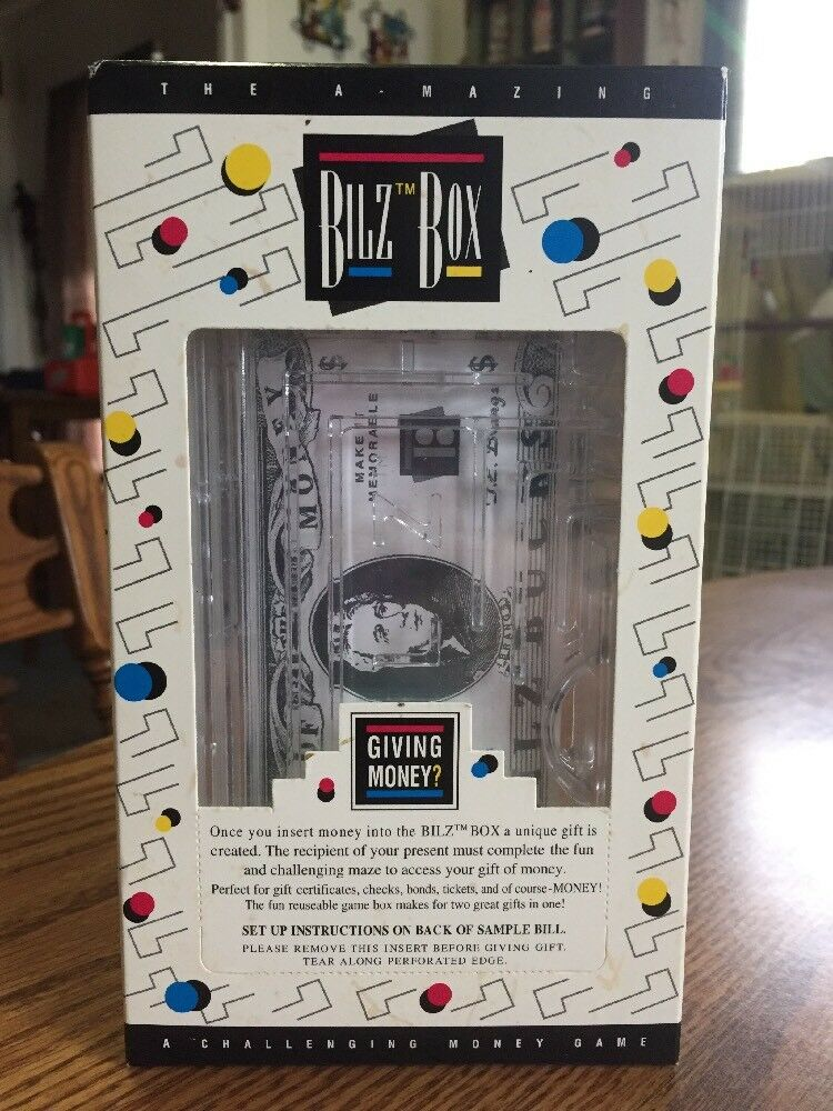 Bilz Box Maze Puzzle Giving Money Gift Challenging Game New Unused