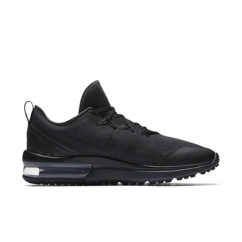ff424a5d32d59 Details about Mens NIKE AIR MAX FURY Black Trainers AA5739 002