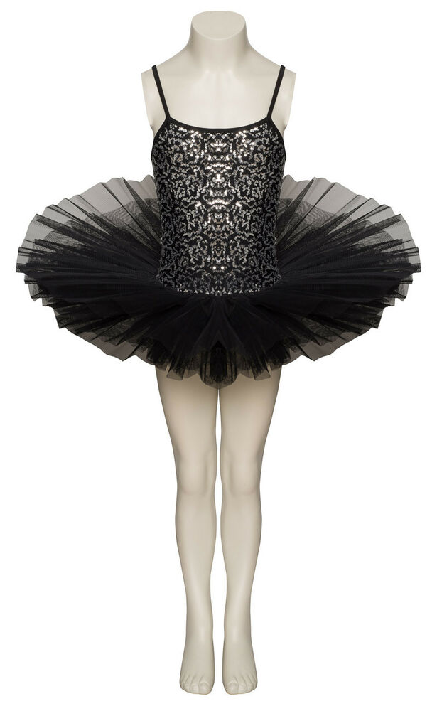 76f8900e1 Black Sparkly Tutu With Silver Sequins Dance Ballet Costume Tutu ...