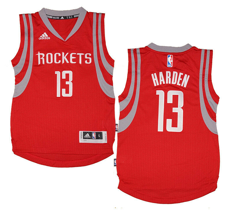 67f51441c Details about Youth James Harden  13 Houston Rockets NBA Adidas Red  Swingman Jersey