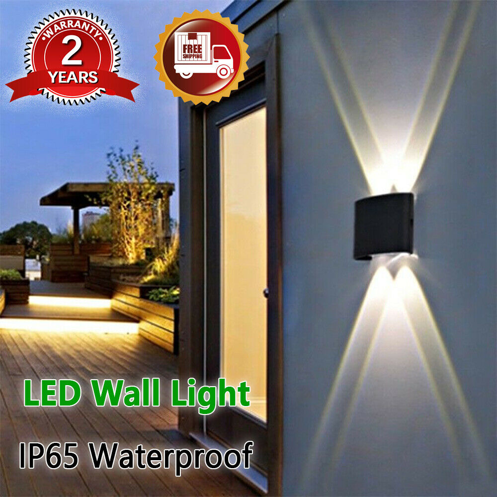 4/6/8W Modern IP65 Sconce Outdoor LED Wall Fixtures Lamp ...
