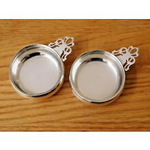 LUNT ~ Pair of Small Antique Sterling Silver Porringer Bowls ~  2